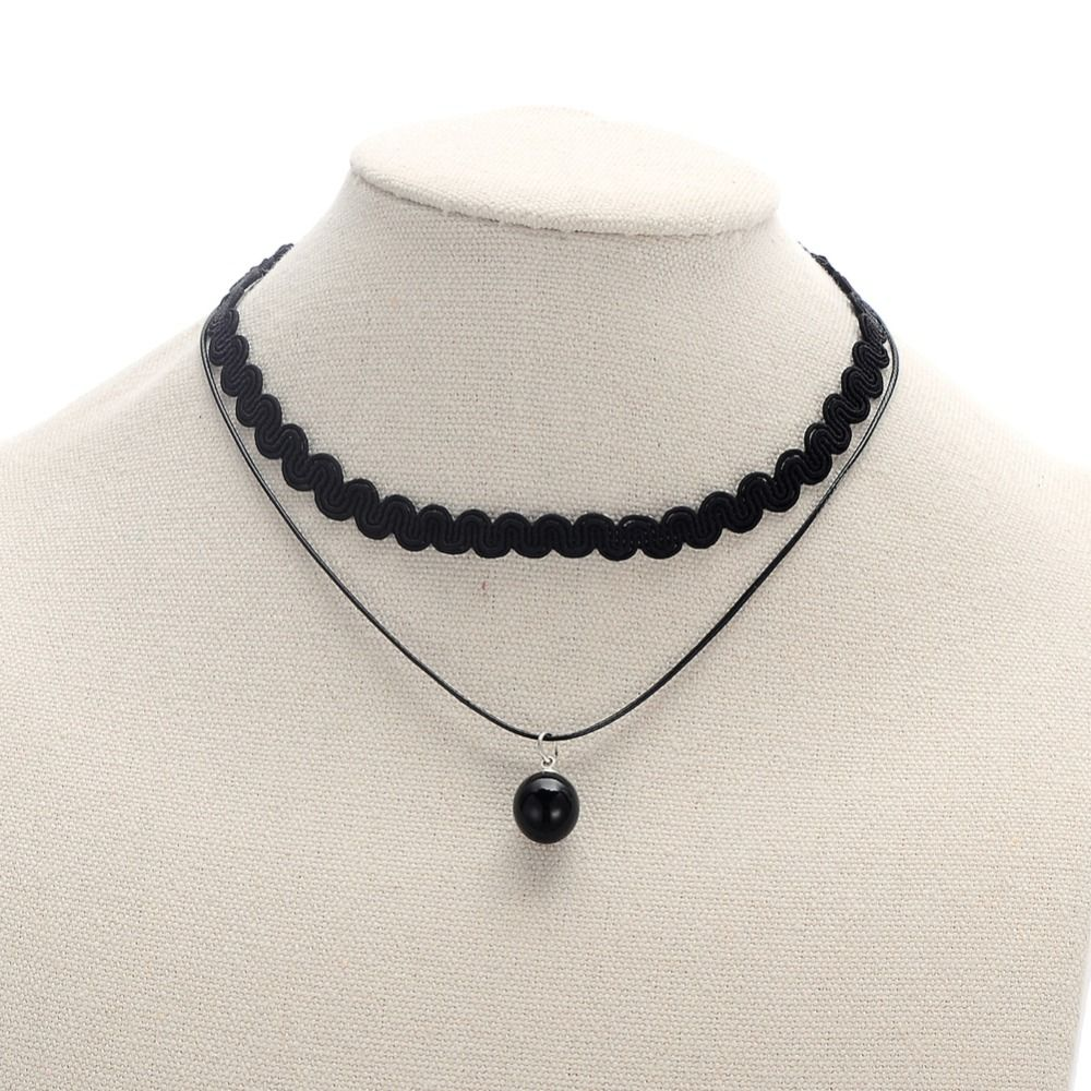 Find More Choker Necklaces Information about Women Fashion Short Vintage Choker Necklace Black Rope Faux Black Pearl Pendant Necklace,High Quality choker necklace black,China vintage choker necklaces Suppliers, Cheap choker fashion necklaces from Winslet&Jean on Aliexpress.com