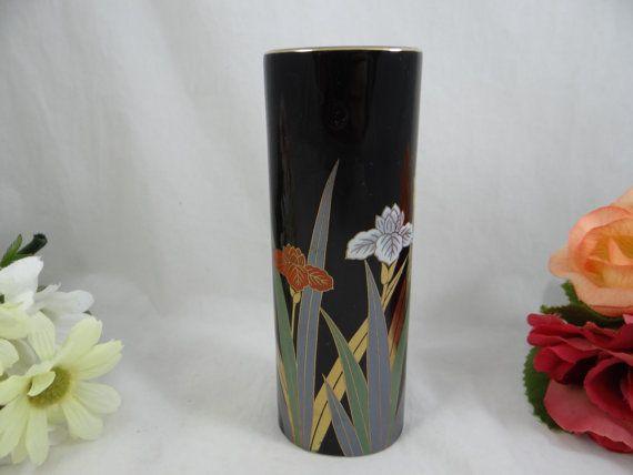 Vintage Otagiri Black Bud Vase Delightful By Secondwindshop