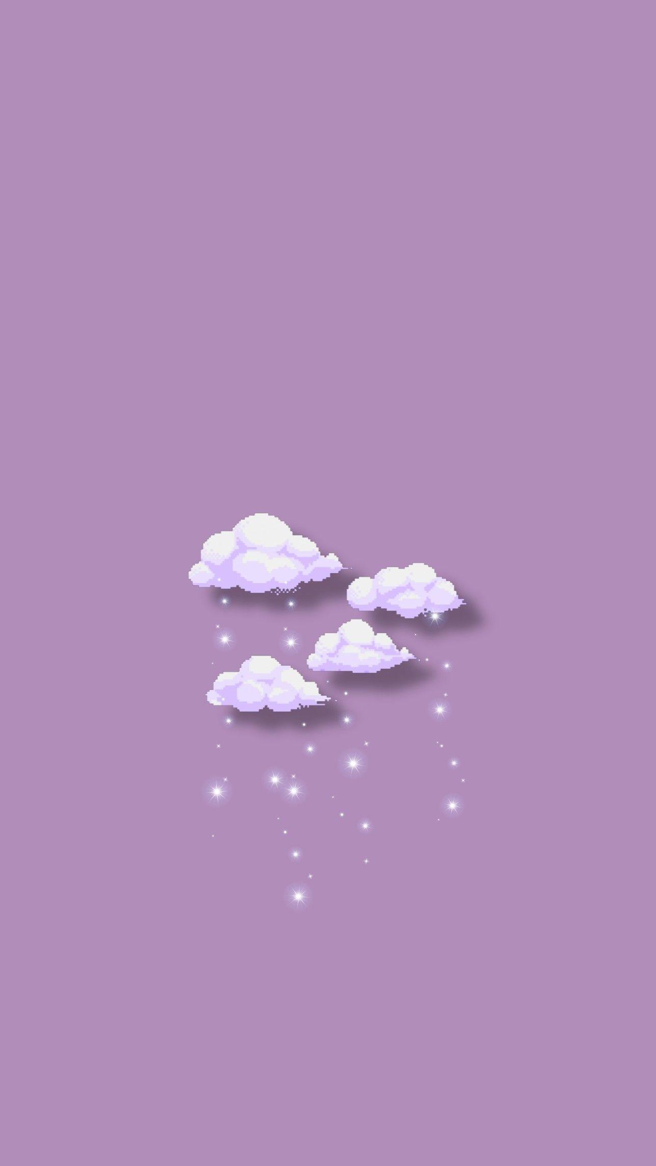 Purple Violet Clouds Aesthetic Wallpaper Latar Belakang Pemandangan Khayalan Wallpaper Ponsel Cute purple aesthetic wallpaper clouds