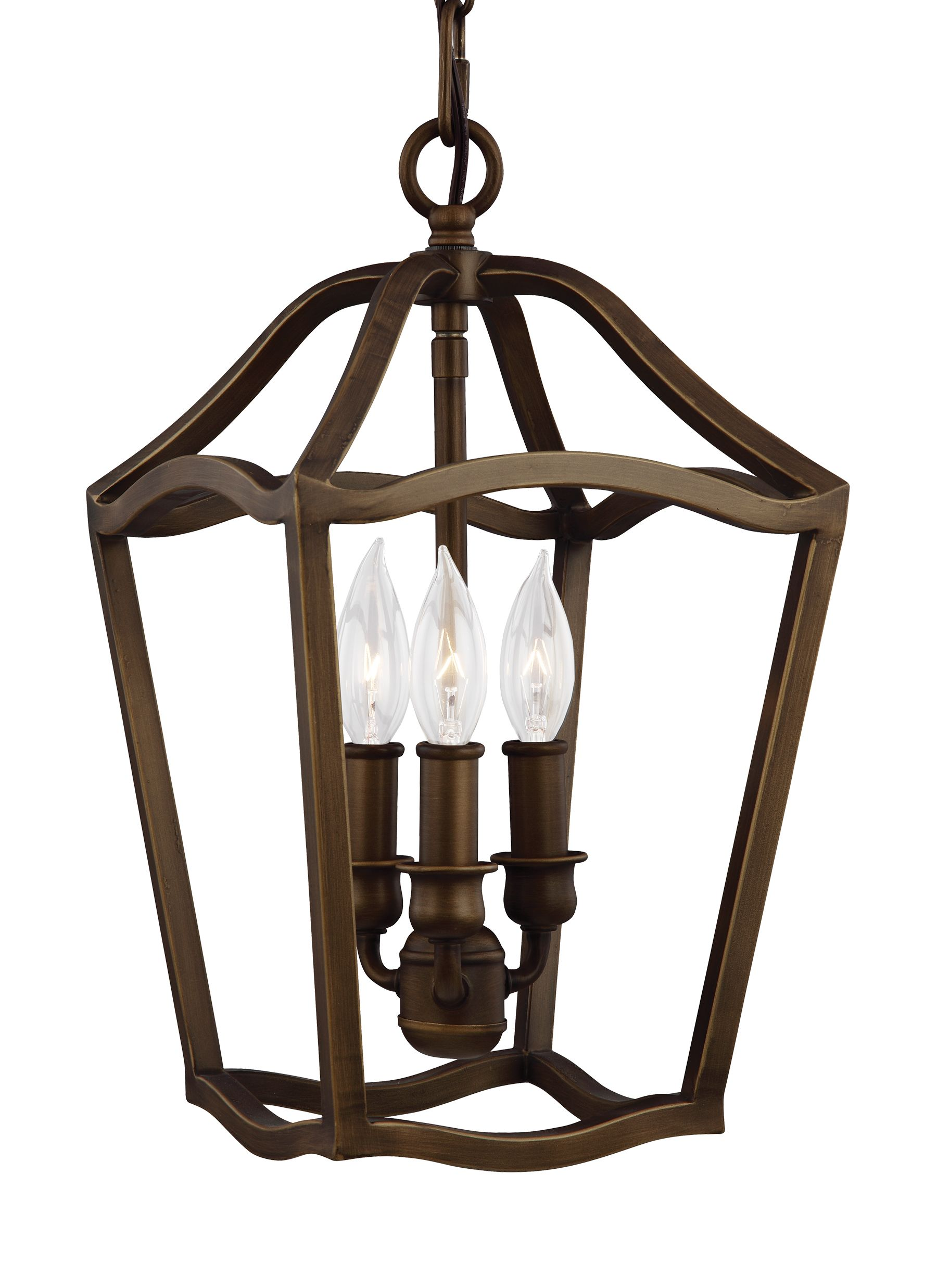 F2974/3PAGB,3 - Light Foyer,Painted Aged Brass