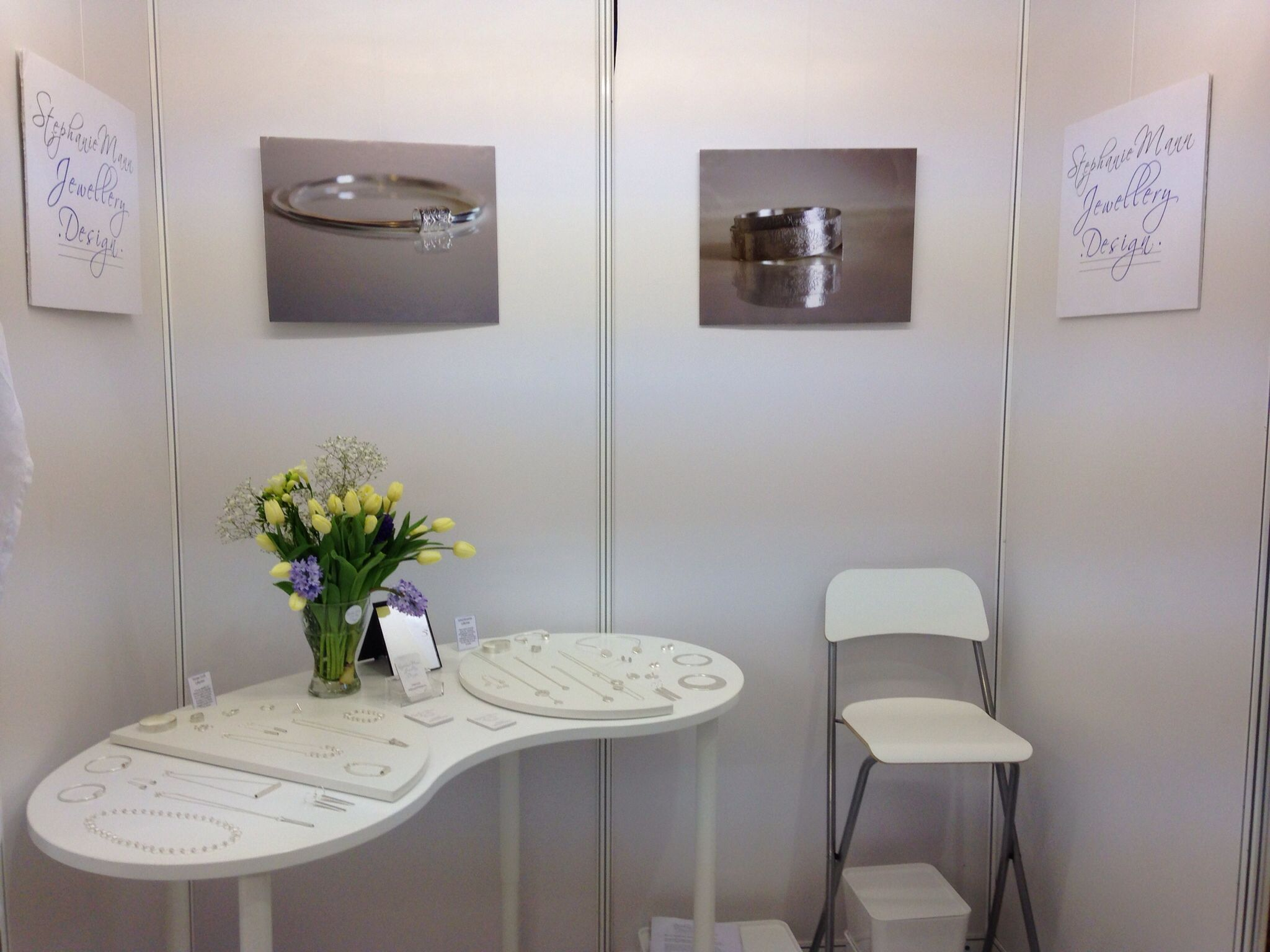 Stephanie mann jewellery design stand at BCTF in Harrogate