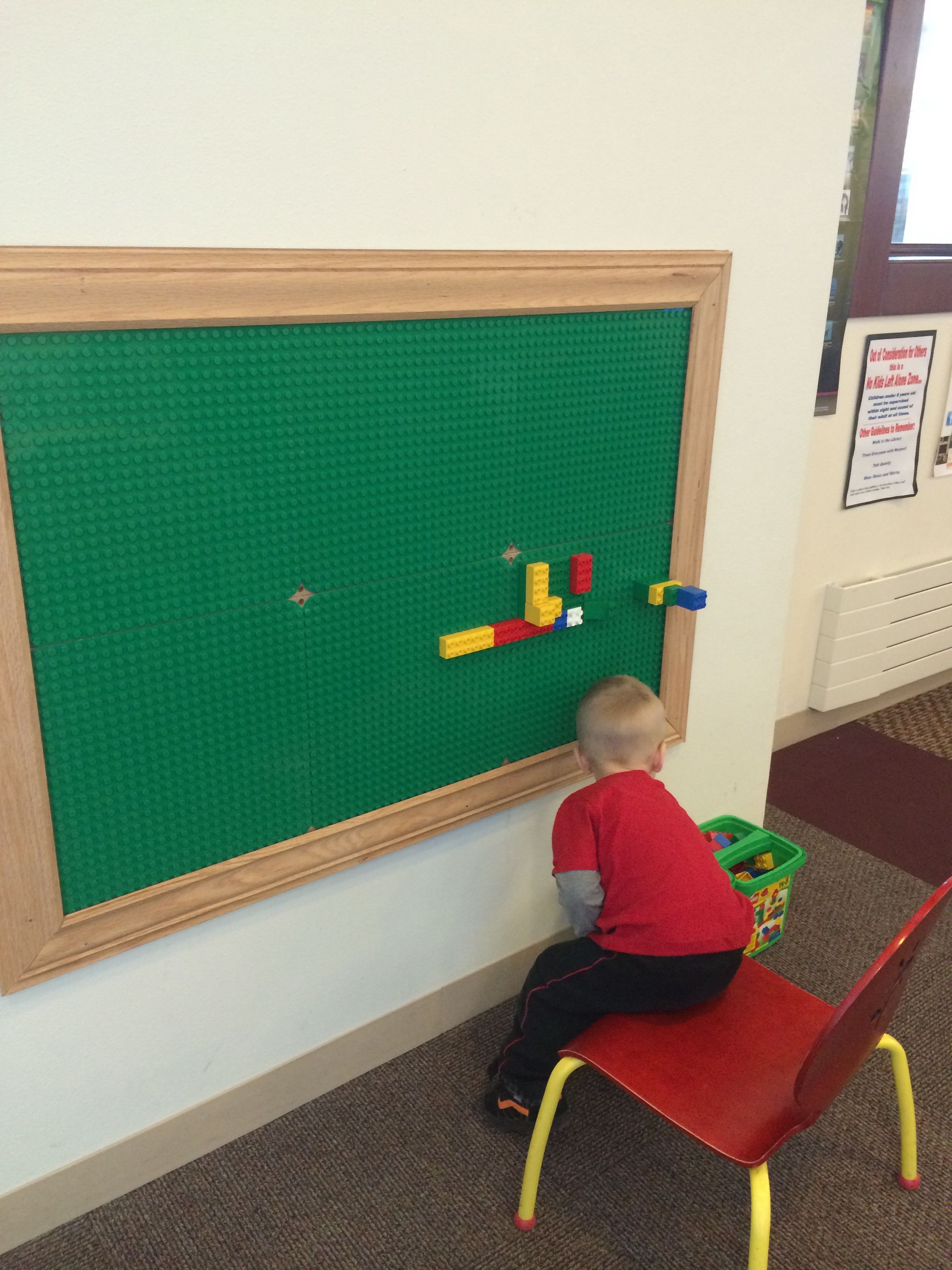 Room 2 Build Bedroom Kids Lego: Little Boys Room Project Idea. Lego Boards On The Wall
