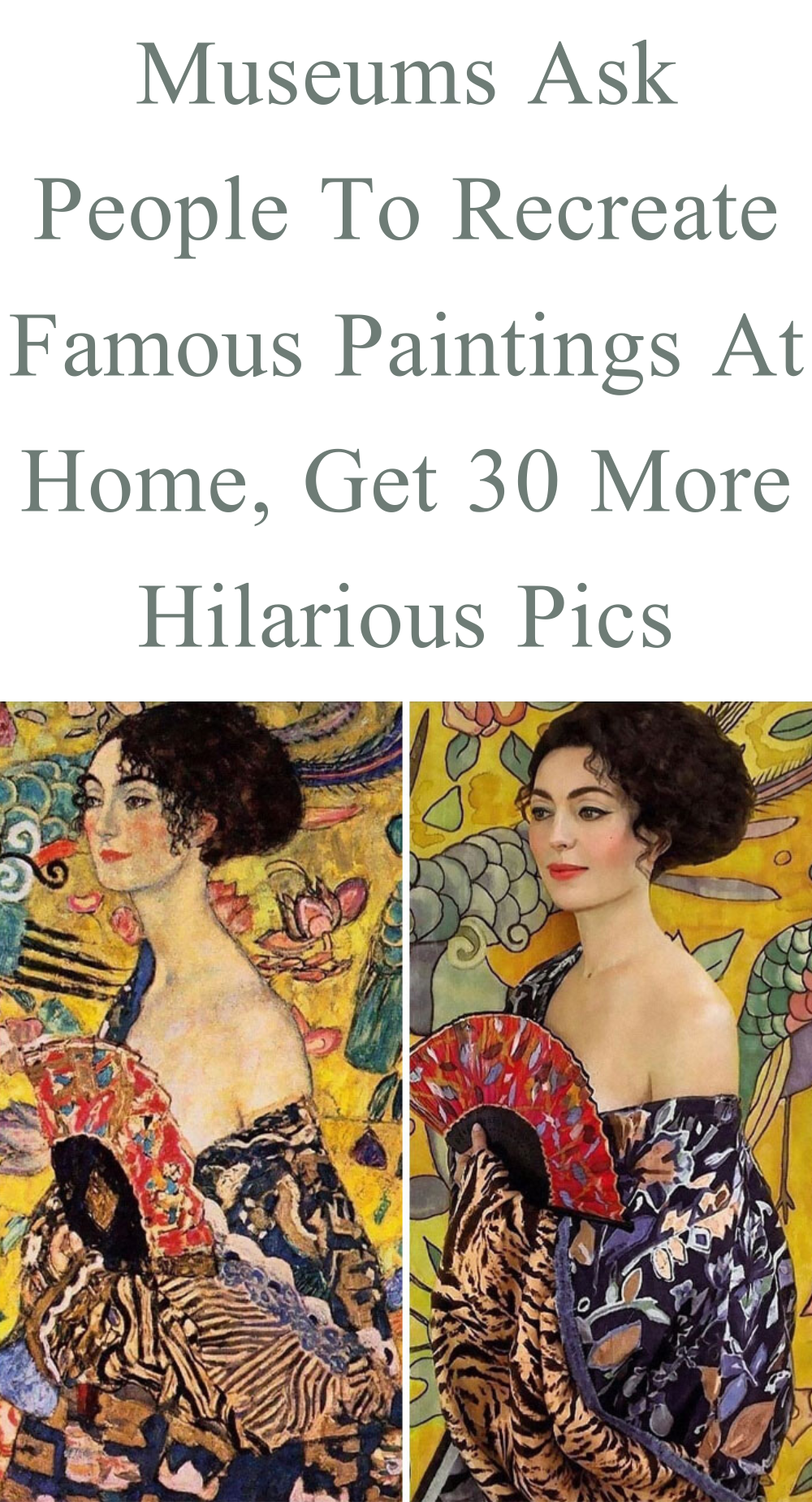 People Stuck At Home Are Letting Their Creativity Loose The J Paul Getty Museum Challenged Art Lovers To Post Photos Of Th In 2020 Funny Pictures Famous J Paul Getty