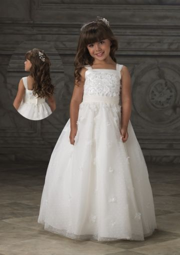 Princess Strappy Floor-length Beading Tulle Ball Gown ...
