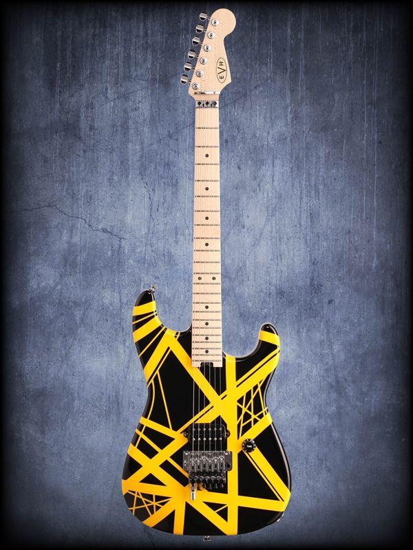 Evh Ed Van Halen Striped Series Electric Guitar Replica Of Vh Ii That Buried With Dimebag