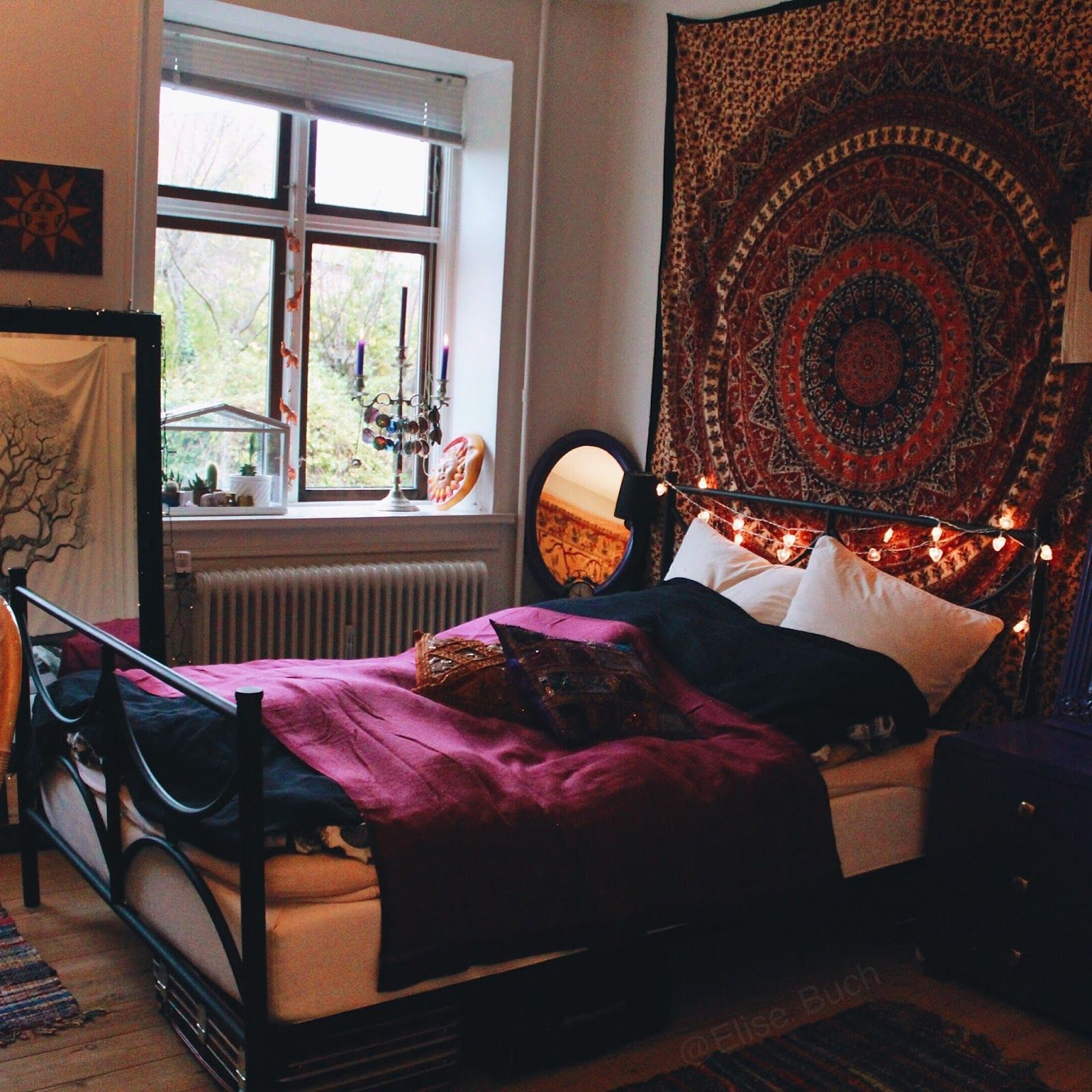 Elise buch my room makeover bohemian hippie inspired for Bohemian bedroom ideas pinterest