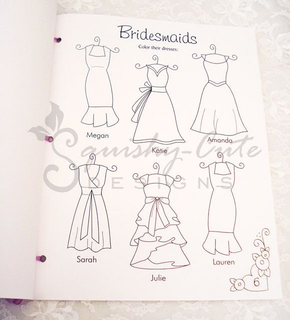 Personalized wedding coloring book. Make my sisters draw ...
