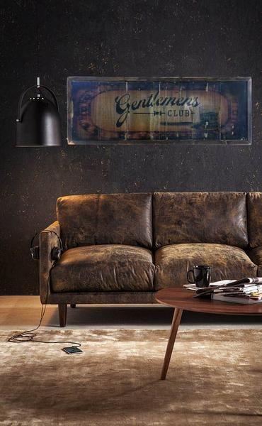 club gentlemen sofa drink room lounge visit sign interior