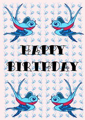Rockabilly Birthday Birthday Clips Third Birthday Birthday Cards