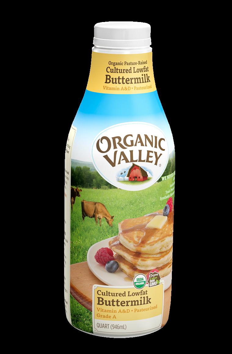 Lowfat 1 Buttermilk, Pasteurized, Quart Buy Organic