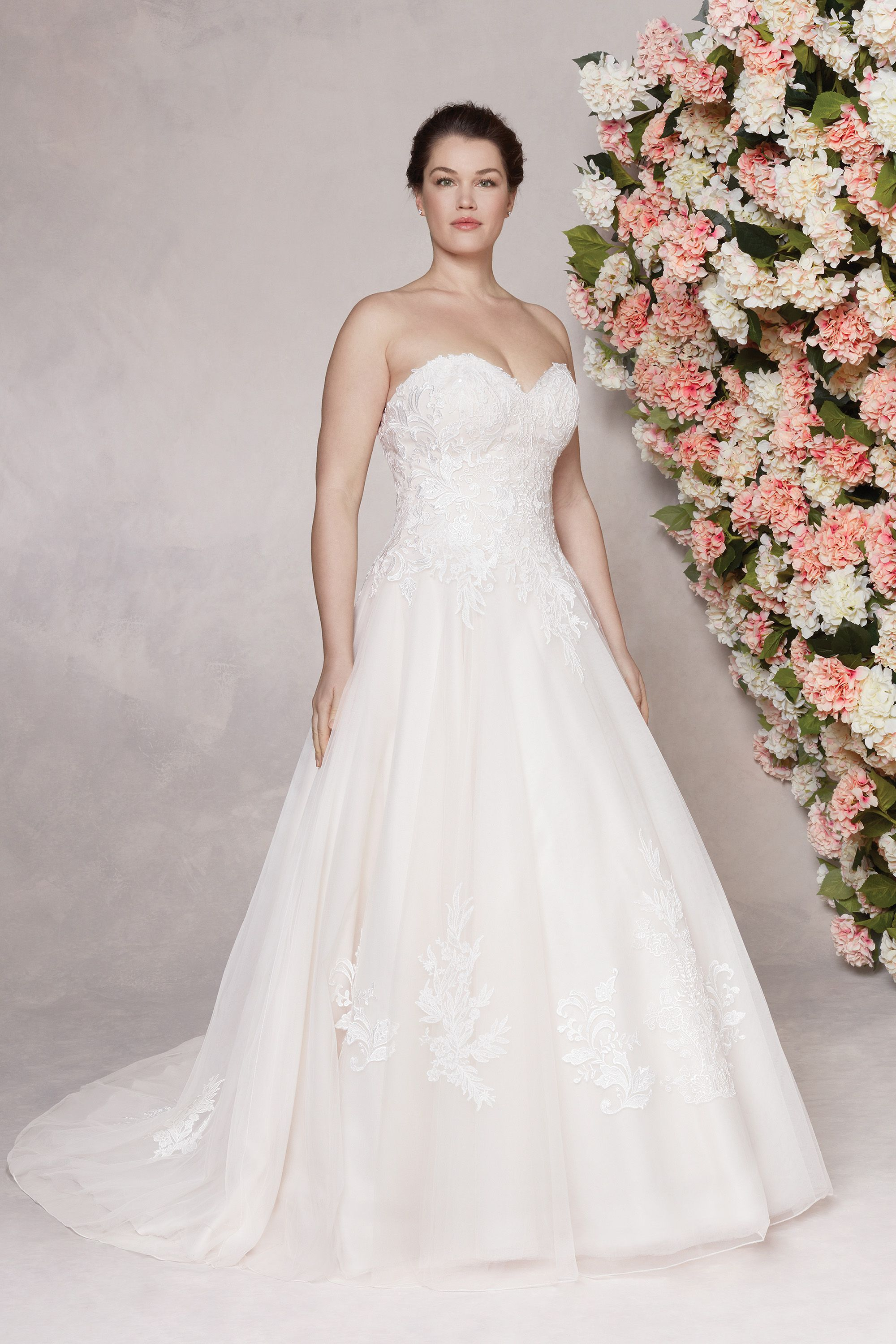 Style 44141 Sweetheart ALine Tulle Gown with Detachable