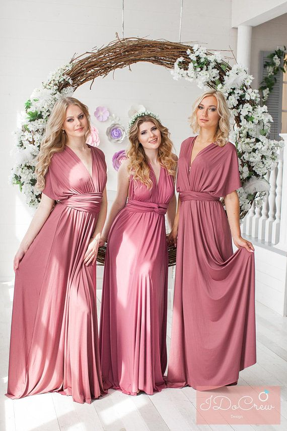 Rosewood Bridesmaid Dress Infinity Dress Floor Length Maxi