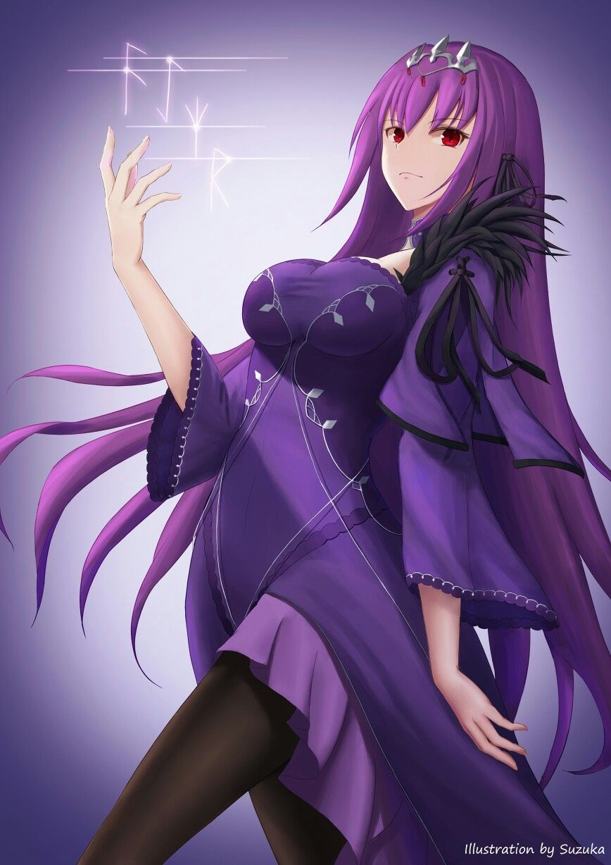 Scathach Scathach fate, Fate servants, Anime purple hair