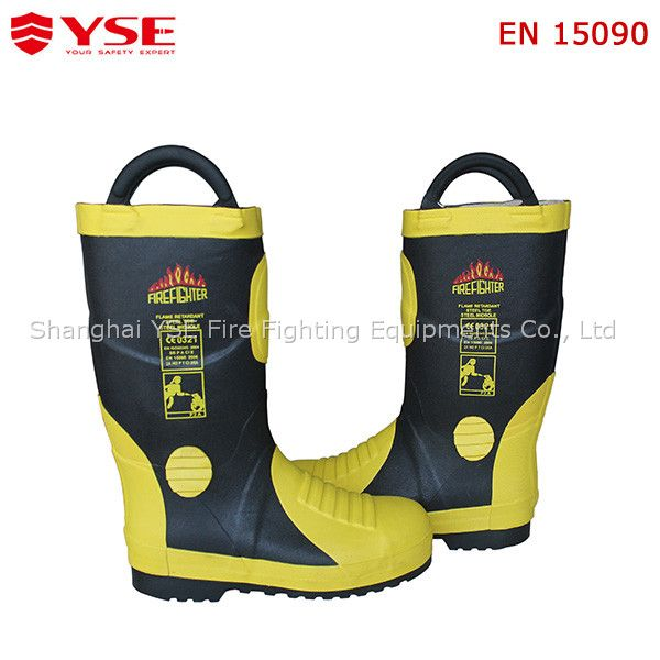 50cf89f7191 Best quality EN rubber fireman/firefighter boots with flame ...