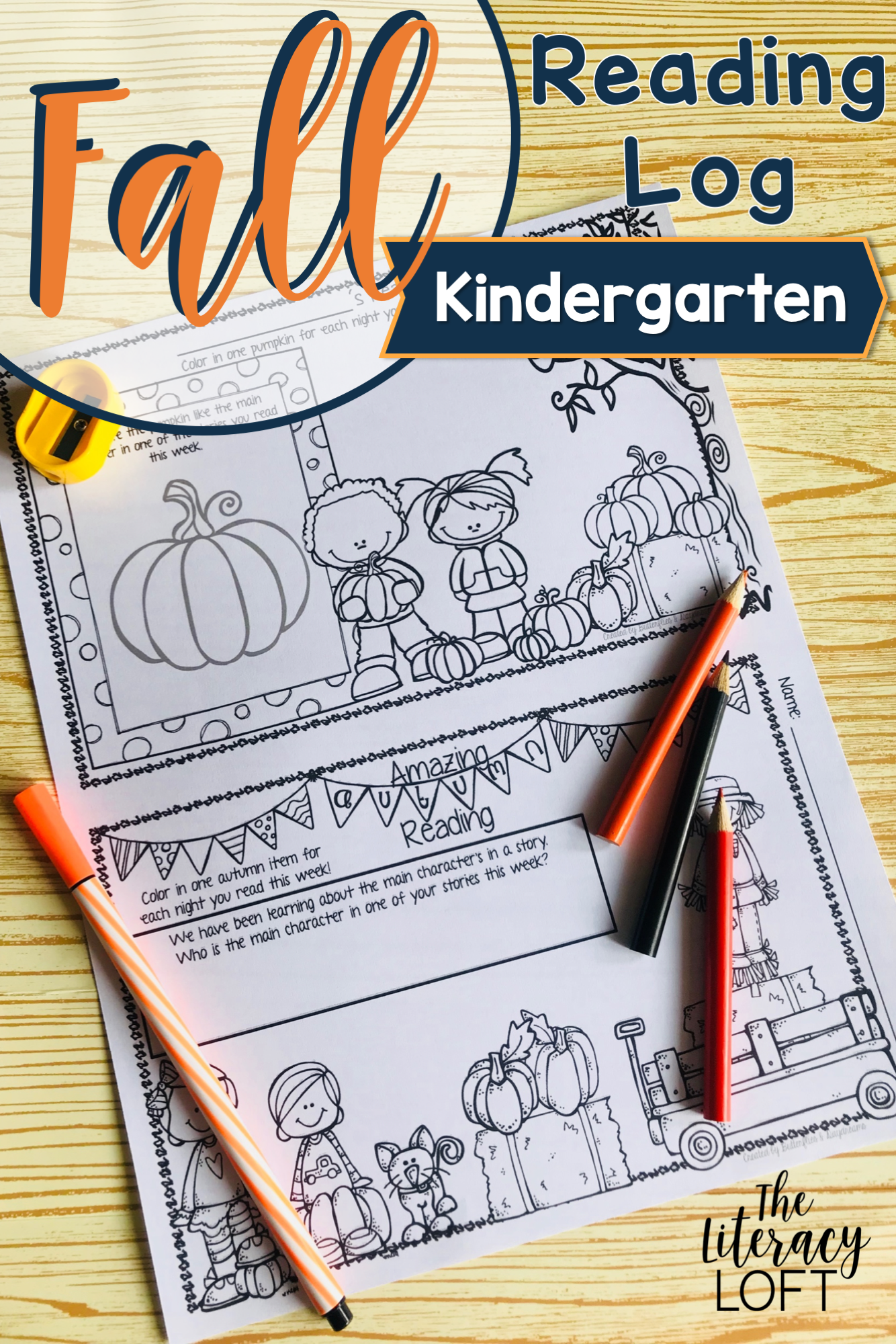 Fall Reading Log Kindergarten