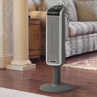 Space Saving Ceramic Pedestal Heater Heater Tower Heater Digital Thermostat