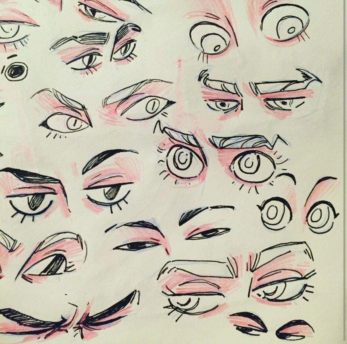 Картинки глаза для рисования персонажей многих