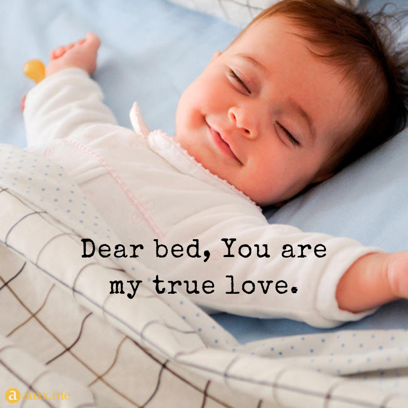 Dear Bed You Are My True Love Baby Bed Sleep Inspirational Baby Quotes Sleep Quotes Funny Good Morning Love Messages