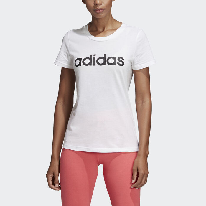 Essentials Linear Tee White Womens in 2019 | Adidas, Mens