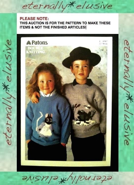 4302 Patons Dk Double Knitting Pattern Mouse Frog Childrens Kids