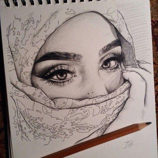 Muslim Girls Sketches  Muslim Girls Skteches In 2019 -8616