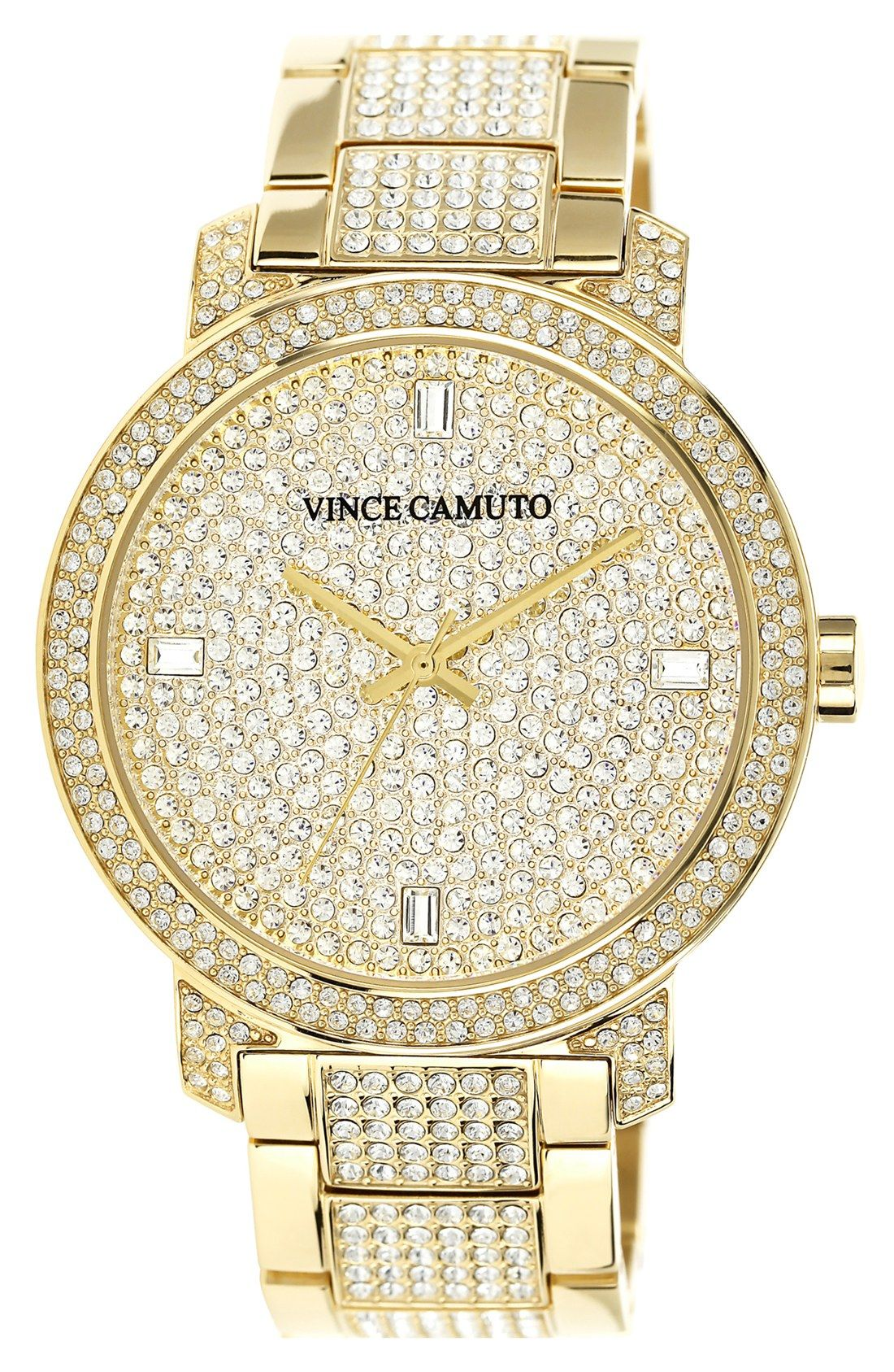 So much glitz on this Vince Camuto watch.