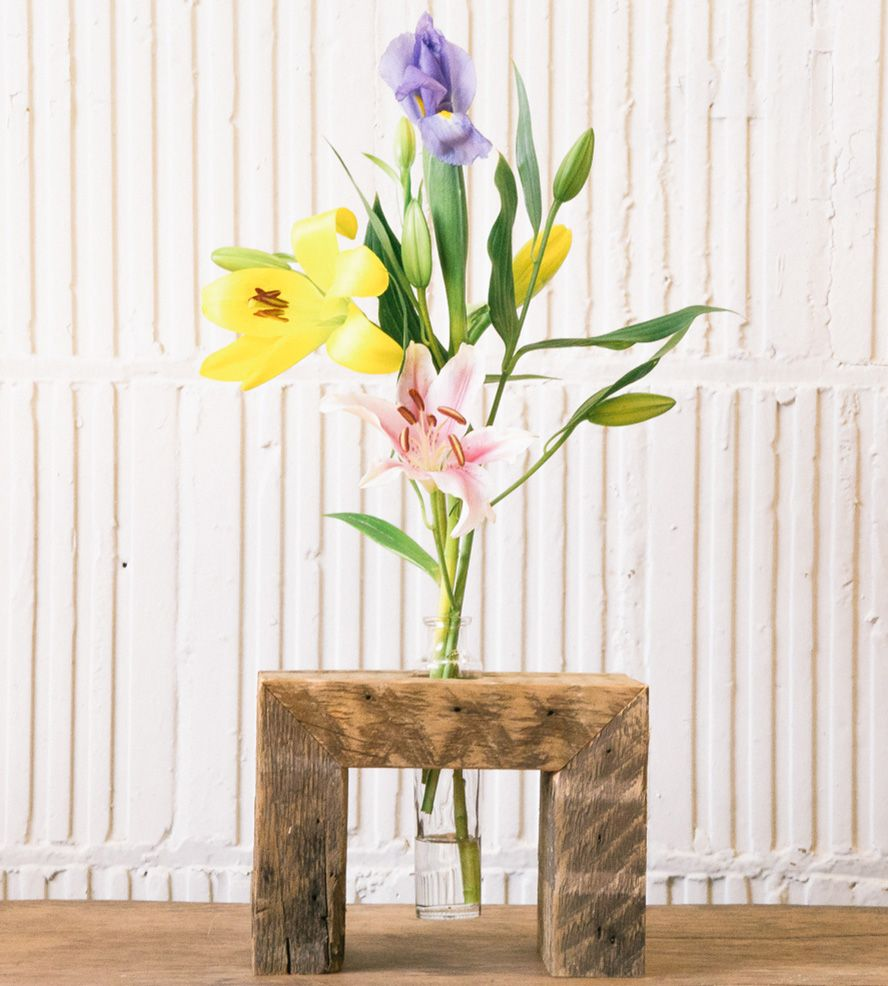 Single salvaged wood floating flower stand floating flowers single salvaged wood floating flower stand floridaeventfo Images
