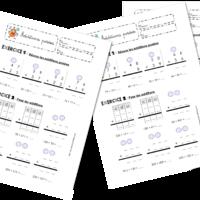 Edit pour intégrer les fiches de Wilfried : 200 fiches !! * 3 fiches d'entraînements pour apprendre à résoudre des additions avec retenue:  Wilfried partage généreusement ces fiches...