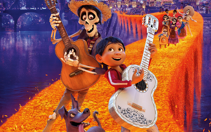 Download wallpapers 4k, Coco, 3danimation, 2017 Movie