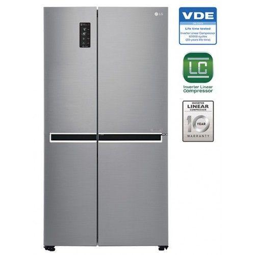 23 59 Ft Side By Side Lg Fridge Lg Gc J247sluv Refrigerator Fridge Appliances Tempered Glass Shelves