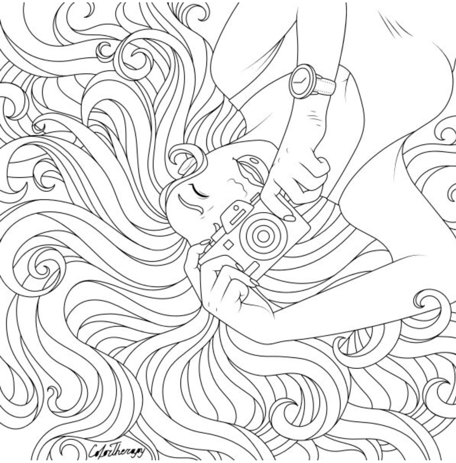 The Sneakpeek For The Next Gift Of The Day Tomorrow Do You Like This One Lady Photographer Free Coloring Pages Coloring Pages People Coloring Pages [ 1553 x 1528 Pixel ]