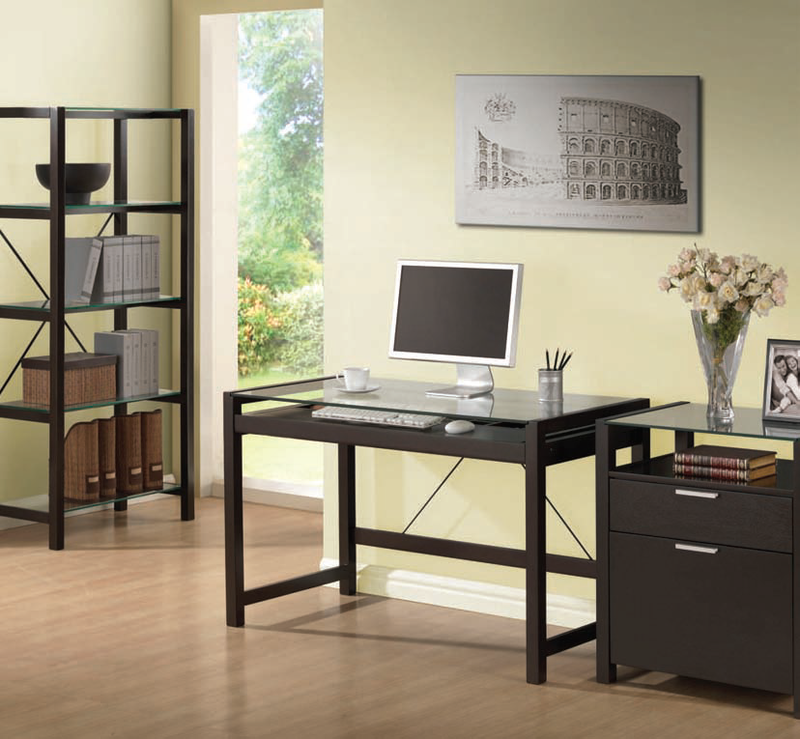 Acme Loakin Wenge Finish Computer Desk 92052
