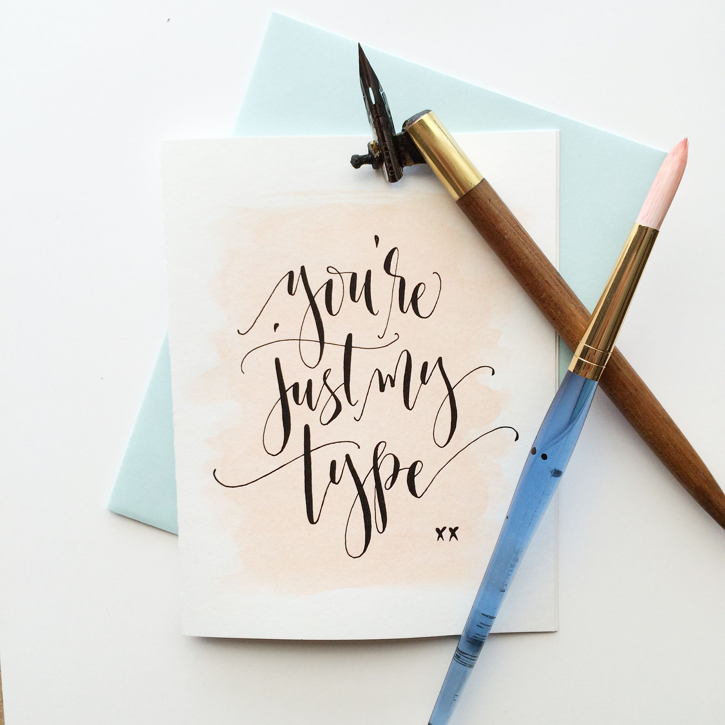 Modern calligraphy workshop august long beach