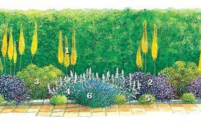 Schmale Beete effektvoll bepflanzen | Zum beispiel, Gärten und Häuschen