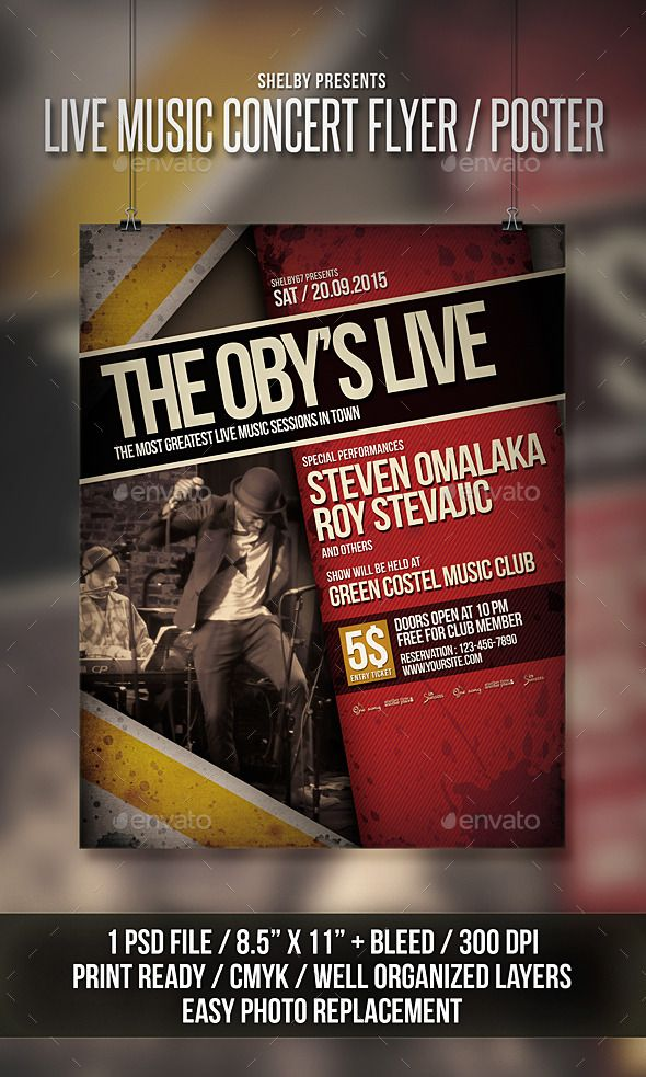 Pin by best Graphic Design on Flyer Templates Concert flyer, Flyer