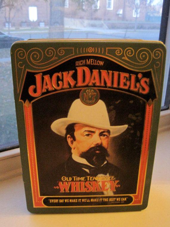 ec90cef632e19 commemorative tin cans   Items similar to Vintage Jack Daniels Tin ...