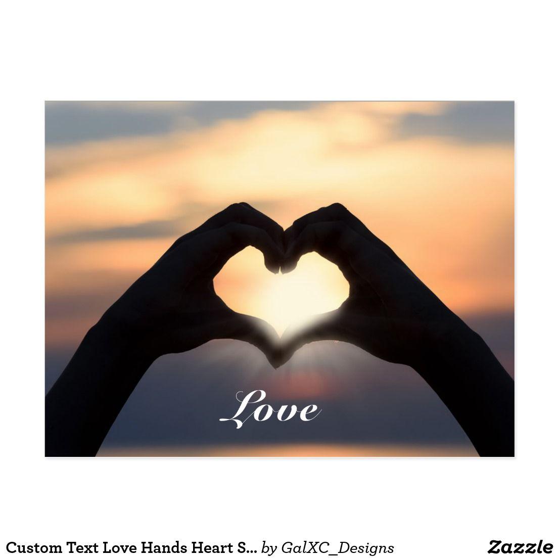 Custom Text Love Hands Heart Shape Twilight Sunset Postcard Zazzle Com In 2021 Peace Photography Inspiration God Photography Love Hands Hand shaped love wallpaper in sunset