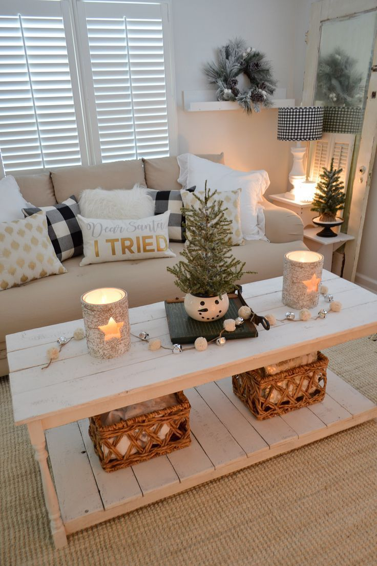 Calm Cozy Christmas Living Room is part of Neutral Warm Living Room - Easy, Effortless Holiday Decorating! Get a Calm & Cozy Christmas Living Room With Neutral, Glam Touches, Rustic Candle Options, Festive Throws and More