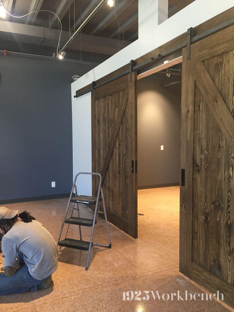 The Classic White Zpaneldoor With The The Heavy Metal Barn Door - Metal basement doors