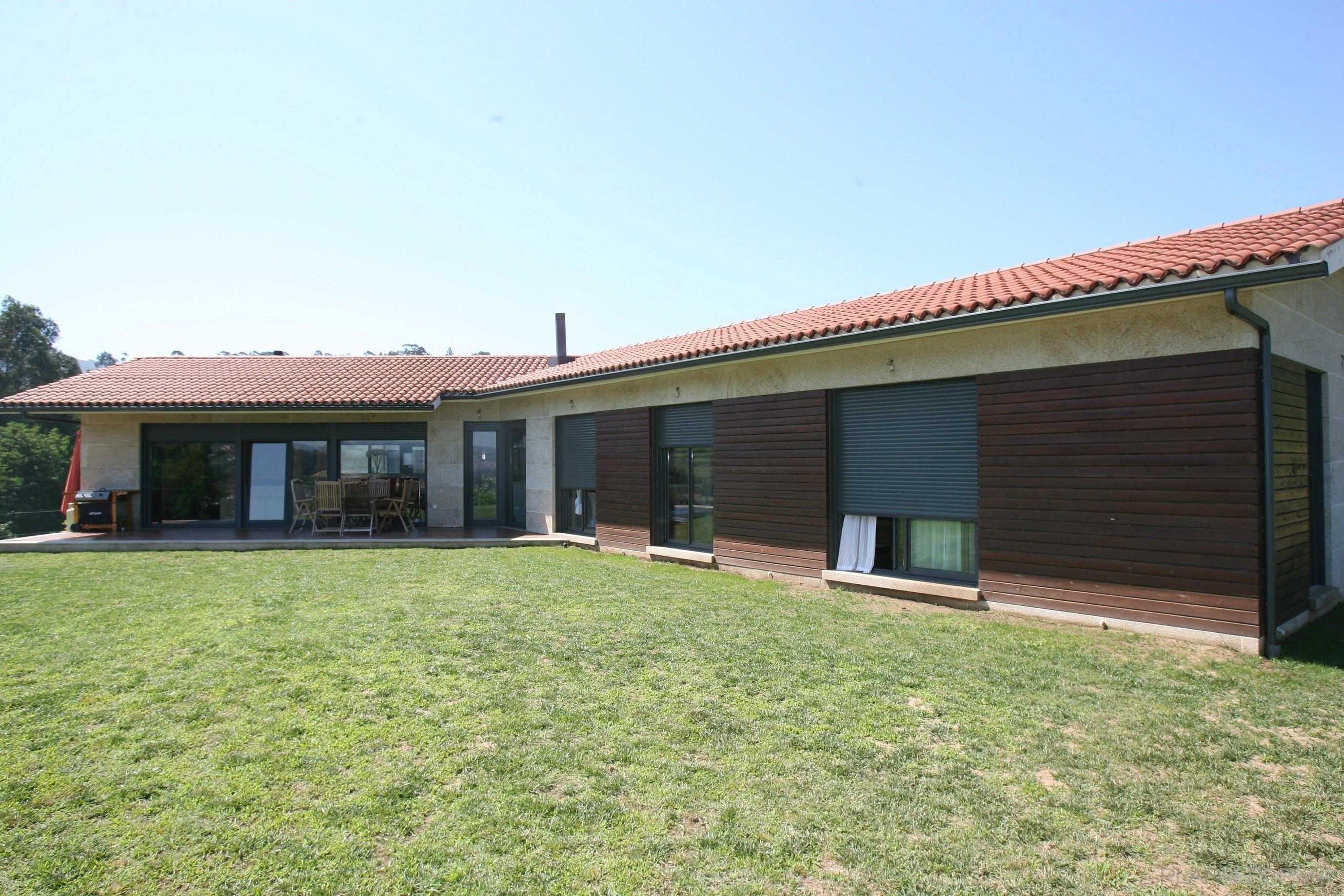 Ideas de casas exterior jardin porche estilo for Decoracion exterior jardin contemporaneo