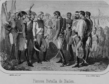 FAMOSA BATALLA DE BAILEN - GRABADO SIGLO XIX. Author: MUGICA C
