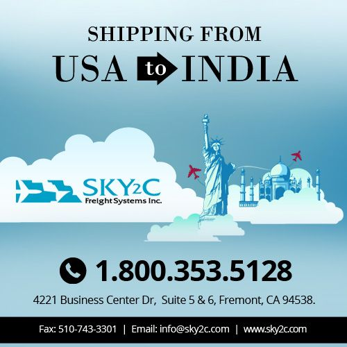 Affordable #Shipping Services from #USA to #India or any country: Sky2c Freight System International Shipping and Logistic Company. #ShippingfromUSA #ShippingfromIndia