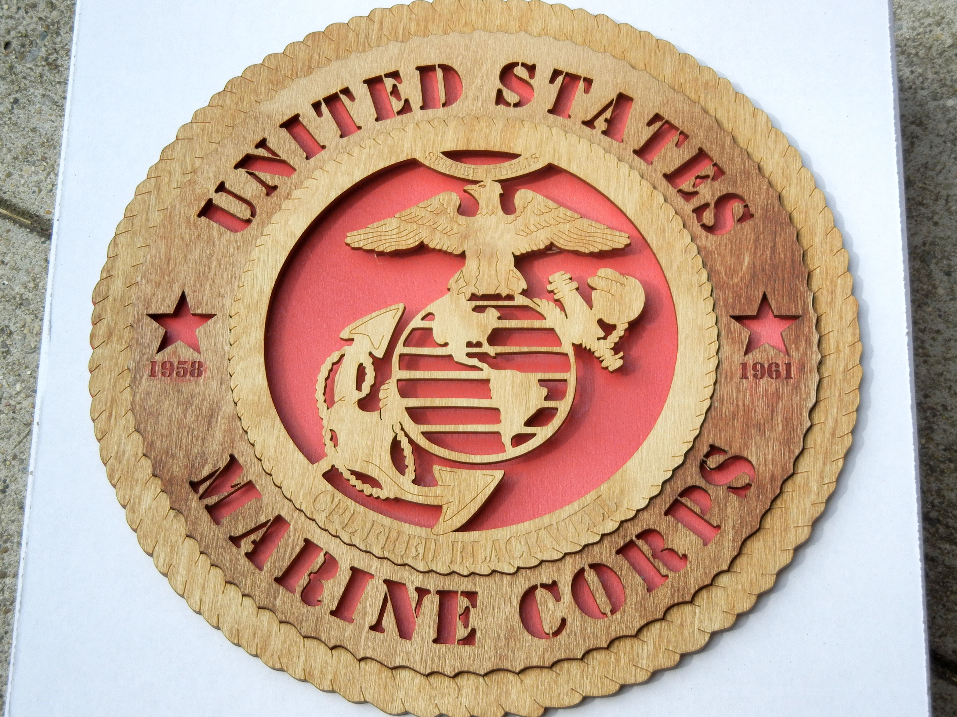 Made for a Marine who served from 1958 to 1961