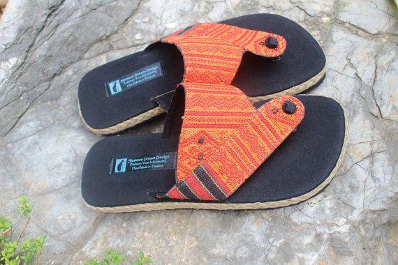 Sandalias tribales para hombres en zapatos de verano de algodón étnico de Naga - Mana