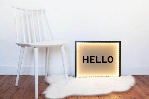 diy splendide cadre de lettres lumineuses id es pour la maison pinterest boite lumineuse. Black Bedroom Furniture Sets. Home Design Ideas