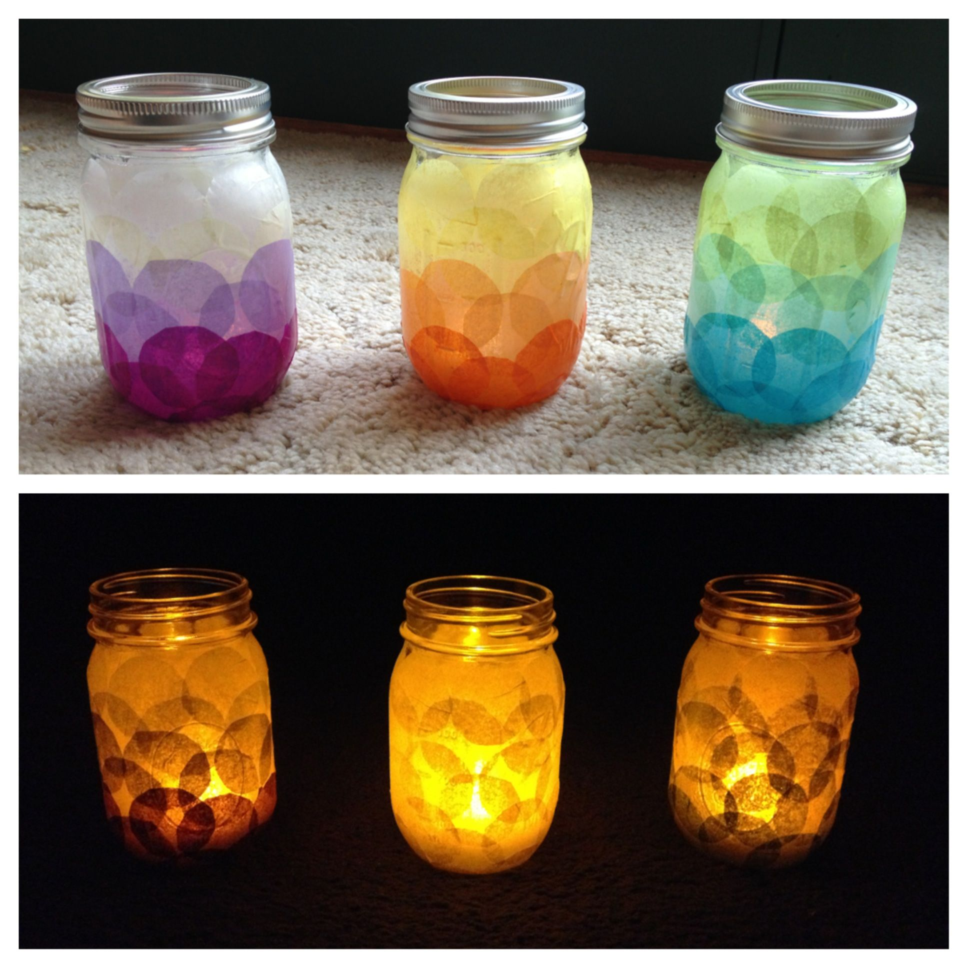 28++ Glass jar crafts with tissue paper info