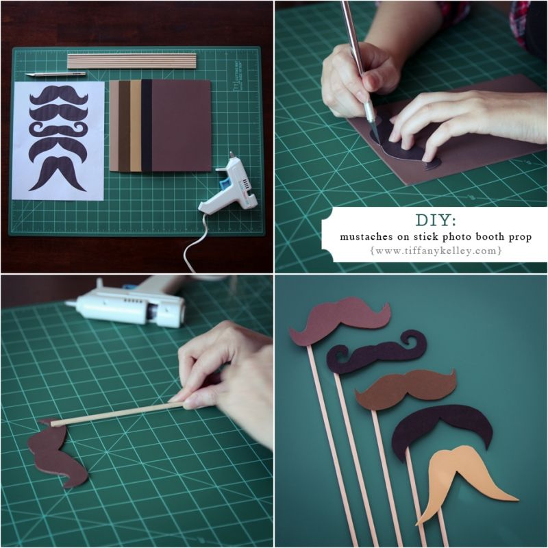 DIY: Mustaches on a stick photo booth prop