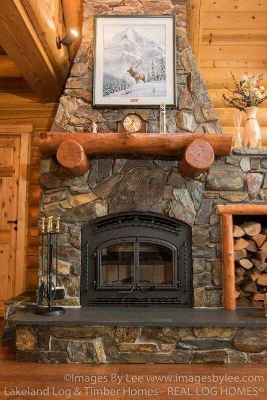 Winning Color Combo For Fireplace Chimney Stone And Metal Grate