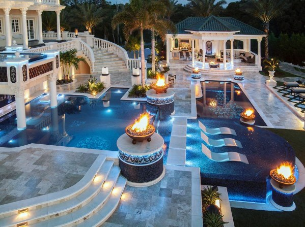 Top 60 Best Pool Lighting Ideas - Underwater LED Illumination