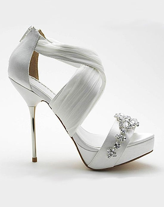 Strappy Wedding Shoes by My Glass Slipper - Bouquet Bouquet ...